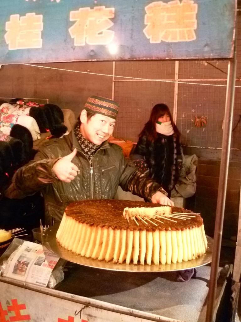 Xian: Leckeren süße Reiskuchen im muslimischen Viertel.