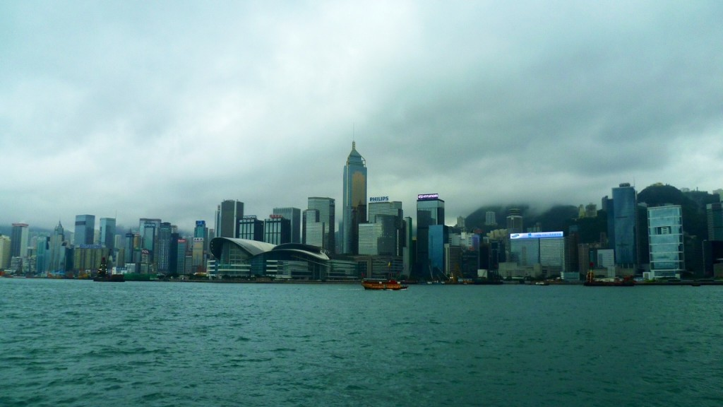 Nachdem sich der Smog und der Nebel etwas verzogen haben, kommt eine sehr schöne Skyline zum Vorschein.