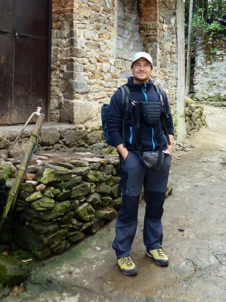 Yuanyang: Weihnachten 2012 - jetzt geht es erst einmal warm angezogen zu den Reisterrassen... Oh man, ich brauche dringend einen Frisörtermin sehe ich gerade...