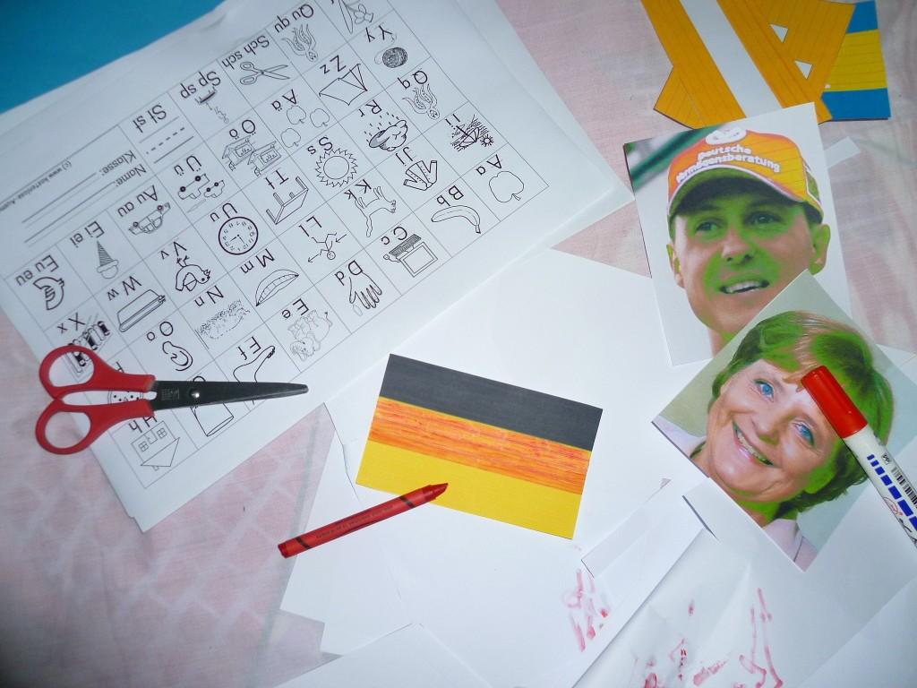 Vorbereitungen auf die Deutschstunde.