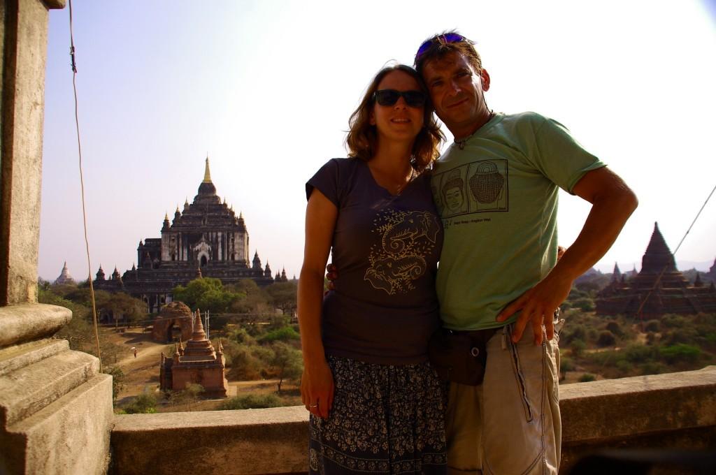 Unser Abschiedsfoto von Bagan