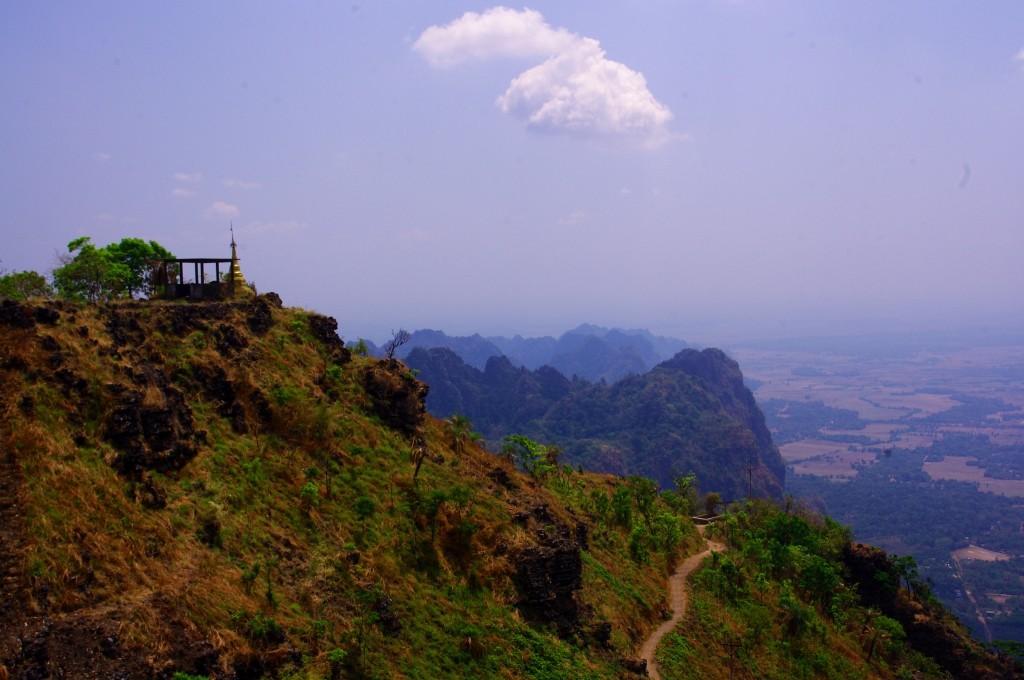 Die Aussicht vom Mount Zwekabin.