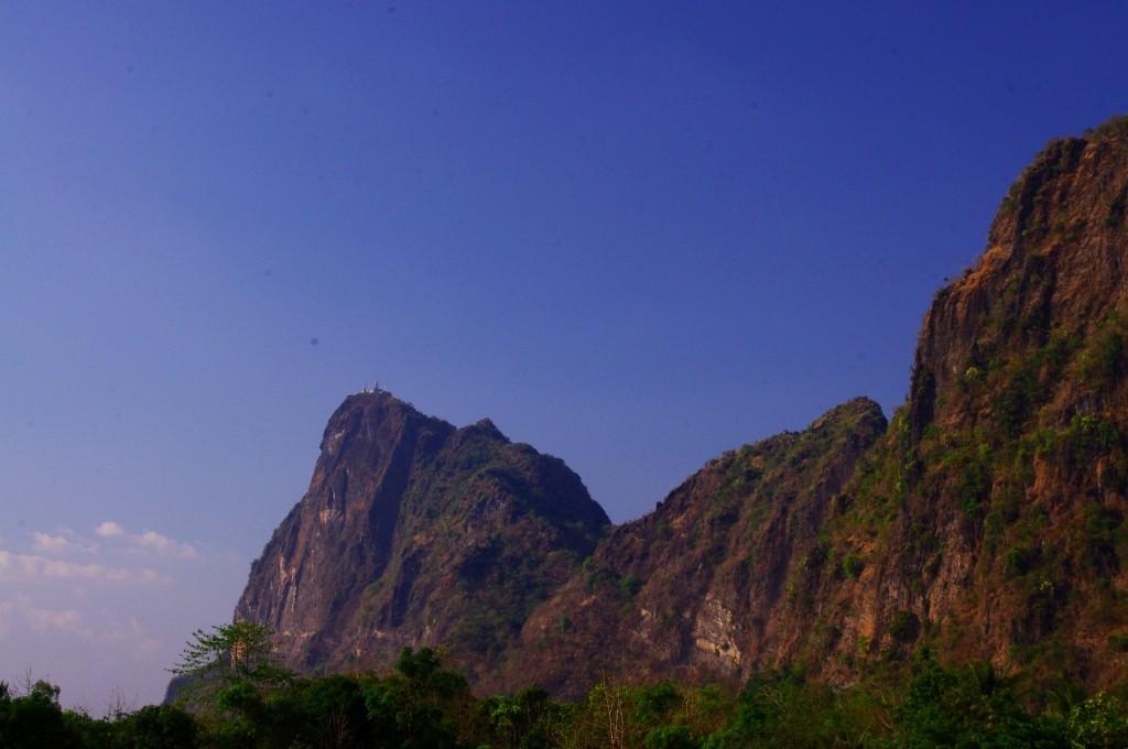 Der Blick von unten auf den Mount Zwekabin.